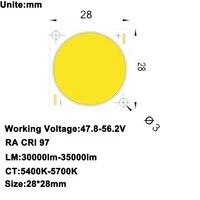 Projecteur de cinema maison a monter soi-meme  CRI 95   haute puissance 300W COB lumiere du jour 5600K 5750mA 30000lm