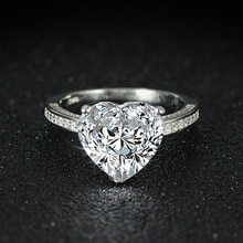 2020 nova chegada moda 925 prata esterlina forma do coração corte anel de promessa para o casamento noivado amor menina dedo jóias r4325