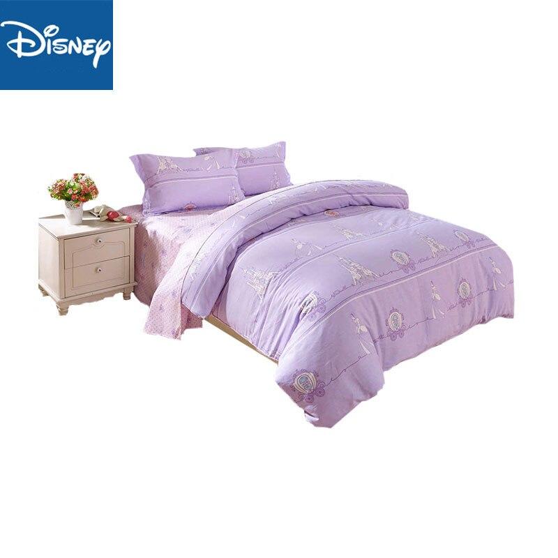 Disney Viole princess comforter bedding set queen girl quilt cover 2/3Pc kids gift bedding set singl