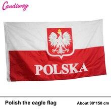 3X5 ALTE POLEN FLAGGE POLNISCHEN FAHNEN WEIßE ADLER EU Indoor Outdoor 90*150 cm Hängen Büro/aktivität/parade/Festival/Home Dekoration