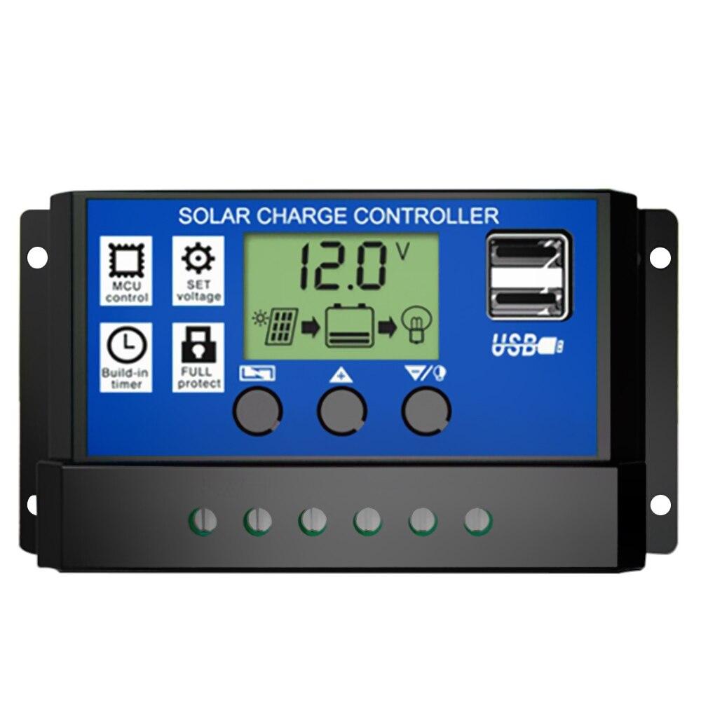 30A sterownik do baterii słonecznych Regulator doładowania akumulatora LCD HD inteligentny kontroler do użytku domowego lampy uliczne