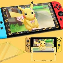 Per Nintendo Interruttore NS Console Protezione Dello Schermo In Vetro Temperato di Gioco Andiamo Pikachu Eevee Colorful Ultra Protetor Della Copertura Della Pellicola