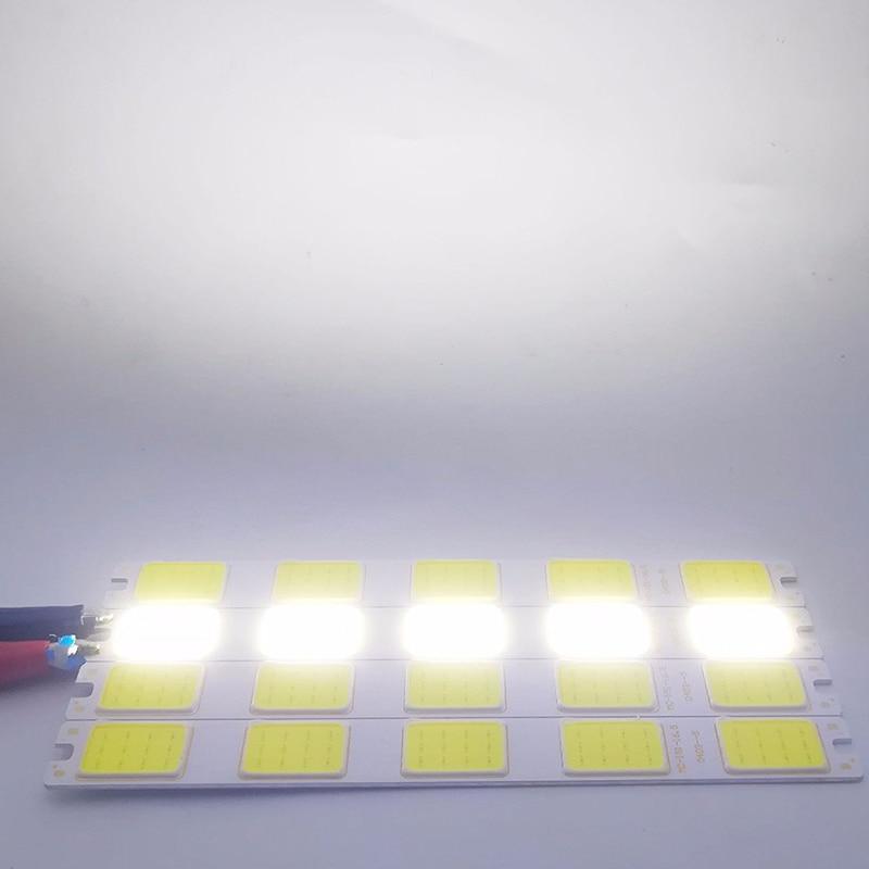 151X16.5Mm Cob Led Light 12V 5W Dc Led Lamp Chip On Board Kleurrijke Cob Strip modules Voor Diy Verlichting Accessoires