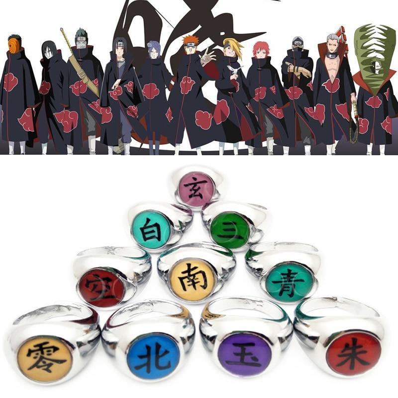 Кольцо Naruto Akatsuki для косплея, реквизит из сплава Nagato Pain Hidan Deidara Orochimaru Deidara, аксессуары унисекс, кольца Uchiha Itachi