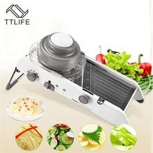 Râpe professionnelle de trancheuse de Mandoline réglable de TTLIFE avec 304 lames dacier inoxydable accessoires de cuisine de coupeur de légume