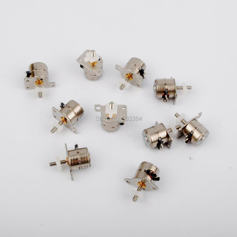Neue 10 STÜCKE 4 Draht 2 Phase Mini schrittmotor mikroschrittmotor D8mm mit einem kleinen schiebetisch freies verschiffen