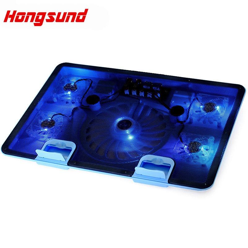 Hongsund USB Notebook Cooler Cooling laptop cooler Pad 5 Fans for Laptop PC Base Computer Cooling Pad Strengthen Edition