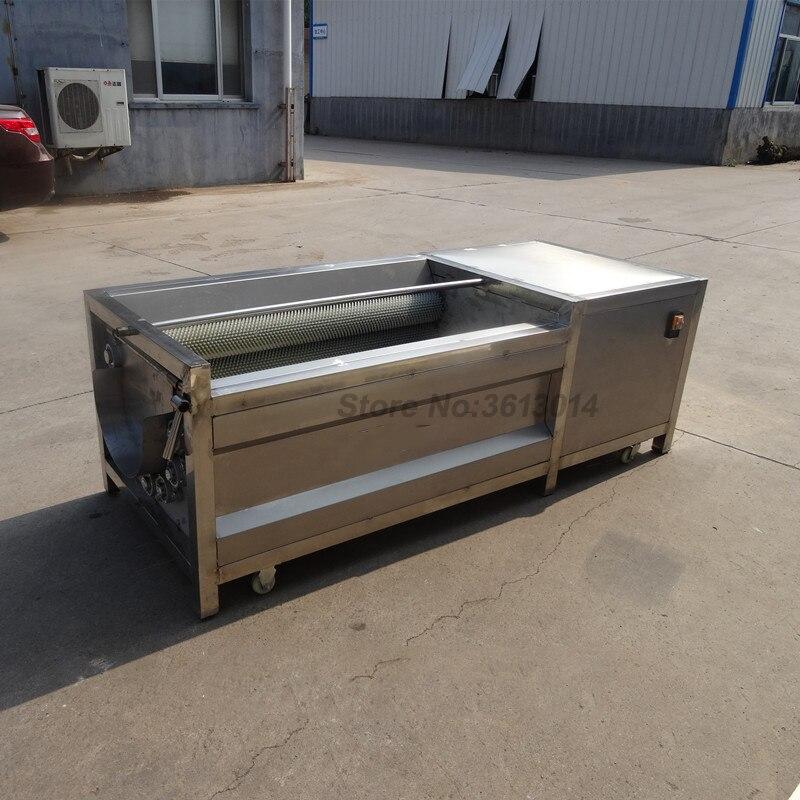 Máquina de lavado de batata rábano máquina de pelado comercial de piel de patata máquina de limpieza de rodillo de pelo konjac Raíz de loto automa