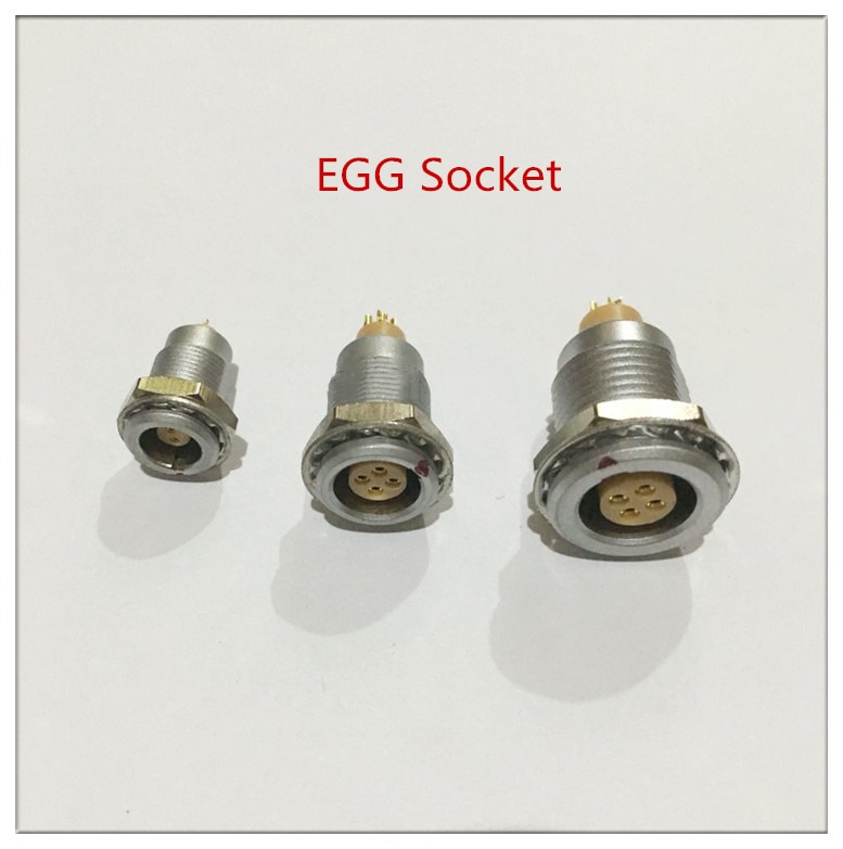 5pcs/lot  Metal Female Socket lemo model 2/3/4/5/6/7/9 pins 0B serial  Lemo Egg Socket,free shipping,factory price