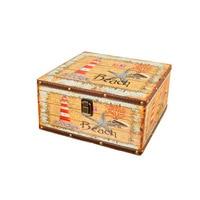 European Retro British Rice Word Flag Storage Box Decoration Wooden Jewelry Box Document Storage Home Creative Decor Accessories