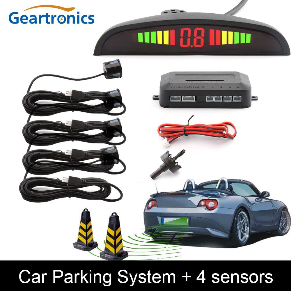 парктроник для авто Парктроник Авто парктроник LED Парковка Сенсор с 4 Датчики обратный резервный радар парковки Мониторы детектор Системы Подсветка Дисплей