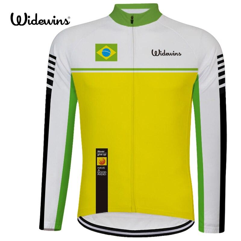Nouveau brésil vtt Pro équipe cyclisme Maillot printemps manches longues Maillot Ropa Ciclismo vêtements été personnalisé cyclisme Maillot 6540