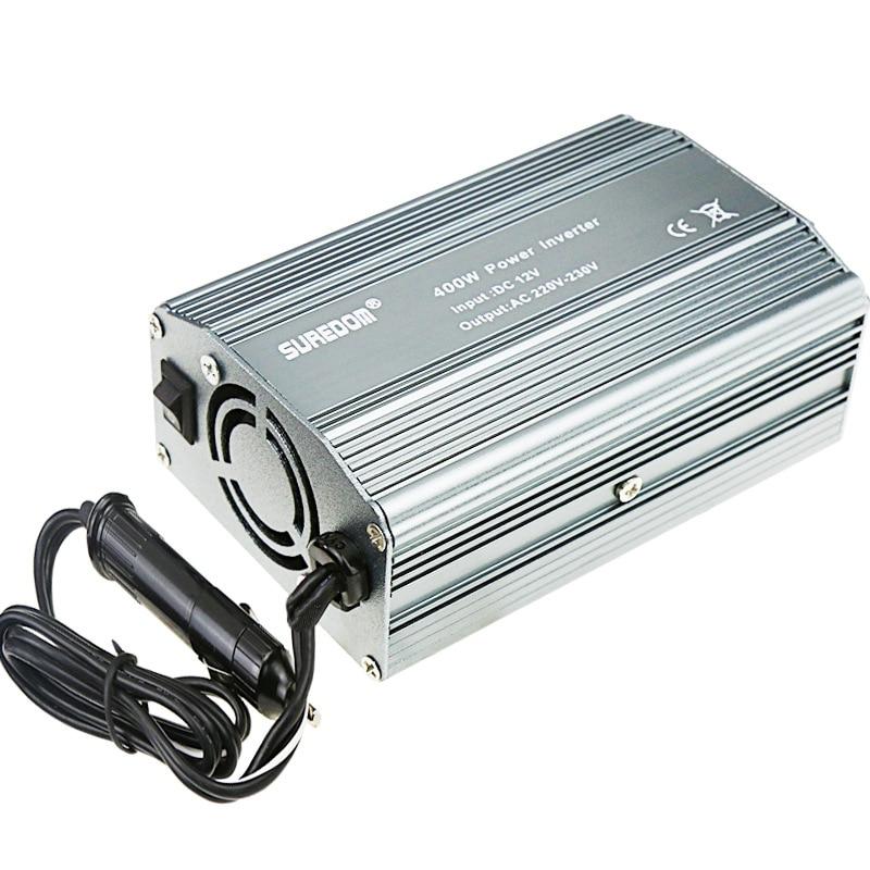 Convertidor de voltaje de 12V a 220V, 24V a 220V, 400W, inversor de coche, USB Dual potencia del inversor, suministro de 12 a 110V, 220V