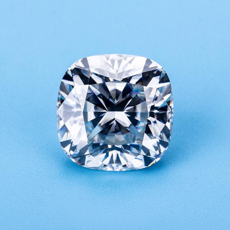 Syn diamond EF-أحجار كريمة بيضاء ، قطع لامع معدل ، 6.5 × 6.5 مللي متر ، مويسانيتي ، لصنع المجوهرات
