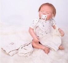 """55 cm Silicone reborn Bonecas de Vinil Silicone Renascer Bebê adorável 22 """"popular bebe vivo bonecas Bebe à moda do aniversário dos miúdos presente"""