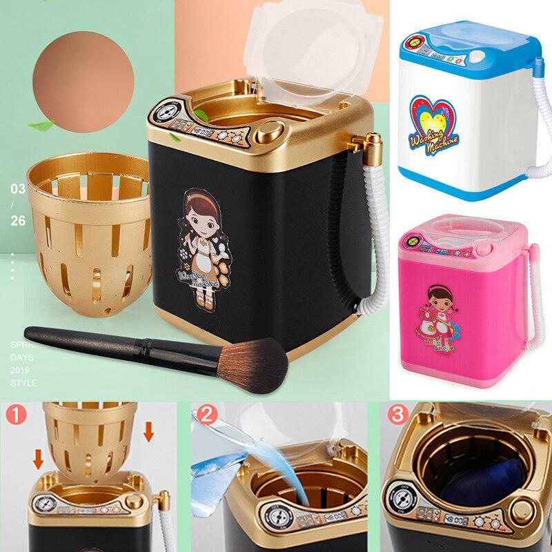 Электрическая мини-щетка для макияжа, моющая машина, кукольный домик, игрушки, косметические кисточки для пудры, Puff, мойка для красоты, инструмент для макияжа