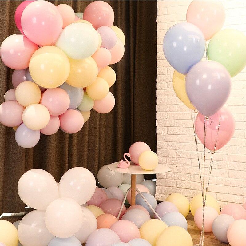 10 pcs Macaron Doce ColorParty Pastel Sortidas Balões De Látex Balões para o Casamento Chá de Bebê Crianças Festa de Aniversário de Formatura