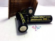 8 pcs/lot New Original 18650 Wholesale 100% Authentic Liter energy battery 3.7v 18650 2600mah li-ion battery