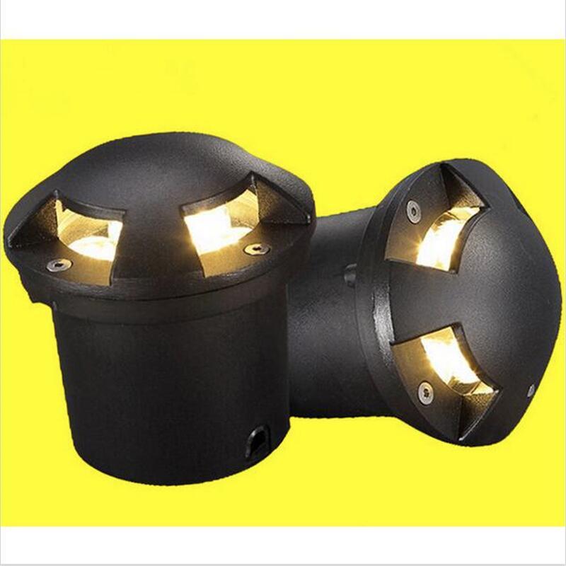 Impermeable 3x3W LED luz subterránea tierra jardín camino lámpara de pie cubierta empotrada al aire libre Luz 1/2/4 vista lateral lámpara subterránea
