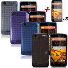 4X Cassa Del Telefono Per ZTE MAX N9520 Boost Mobile Molle DEL GEL TPU Della Copertura Della Cassa Flessibile + Protezioni Dello Schermo