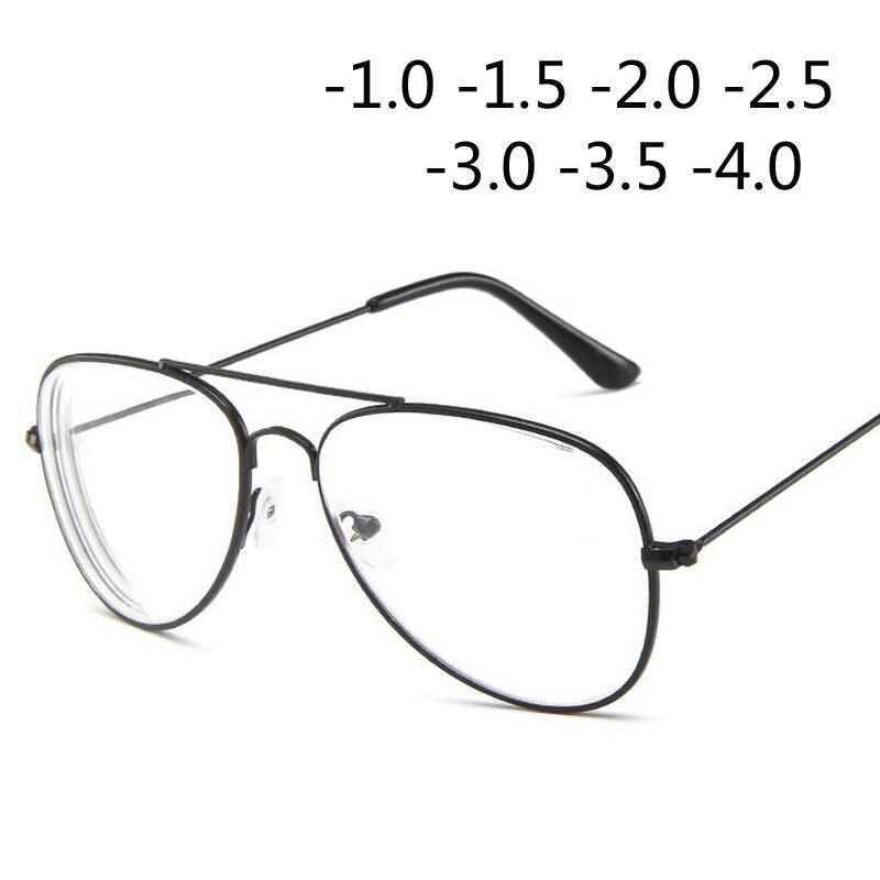 Retro Metal Cat Eye Frame Myopia Spectacles Glasses For Women And Men -1.0 -1.5 -2.0 -2.5 -3.0 -3.5 -4.0