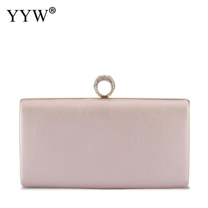 YYW bolso de mano de fiesta de noche de boda a prueba de agua, bolso de mano, bolso de mano de diseñador para mujer, billeteras con anillo de diamantes de imitación