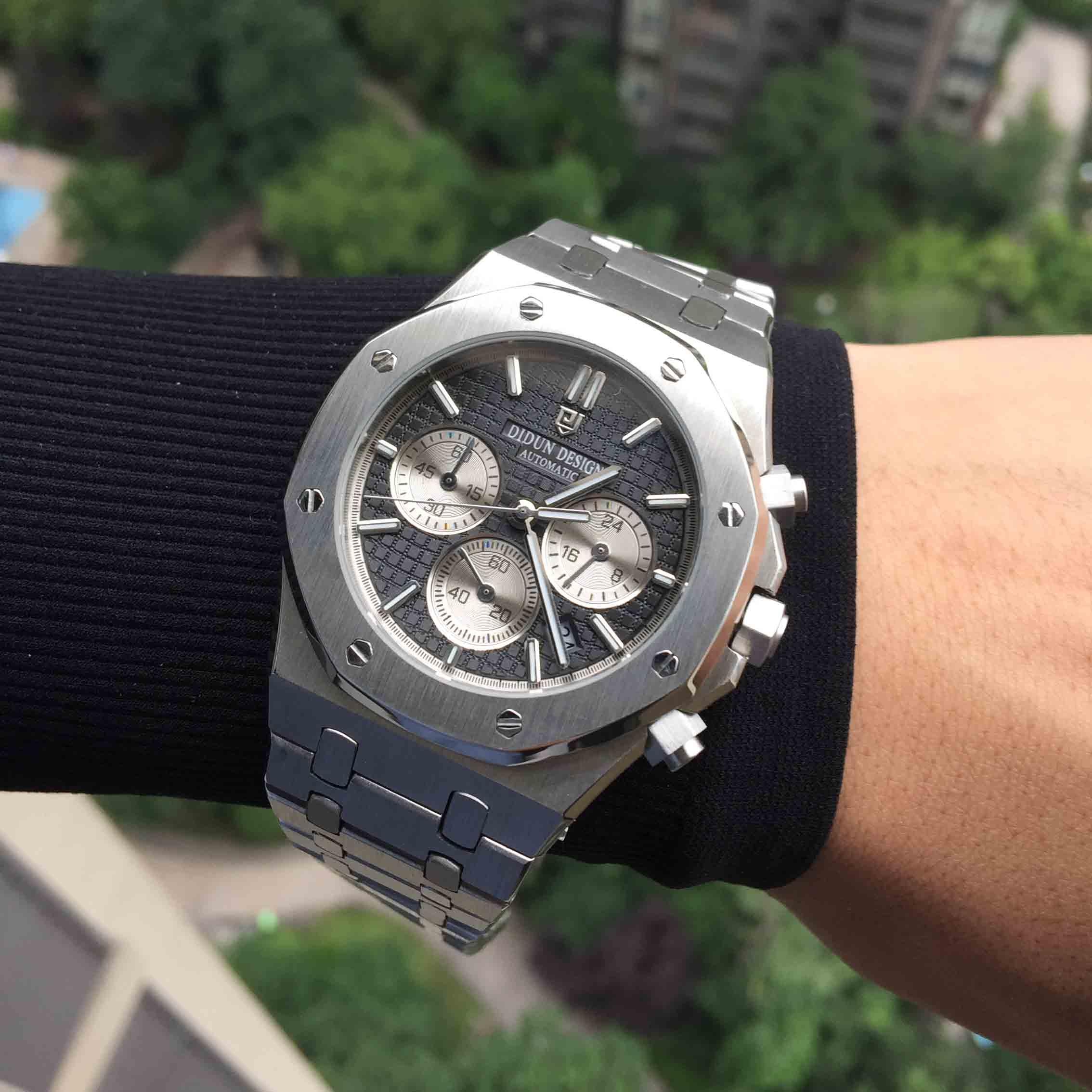 Reloj DIDUN reloj militar de cuarzo a la moda para hombre, reloj deportivo de lujo resistente al agua