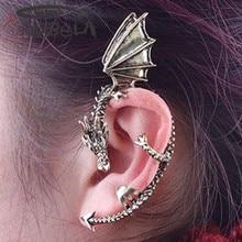 Imily Bela Gothic Women New Fashion Dragon Clip Earrings  Female Clip on Earrings Accessories  Funny Earrings  Jewelry
