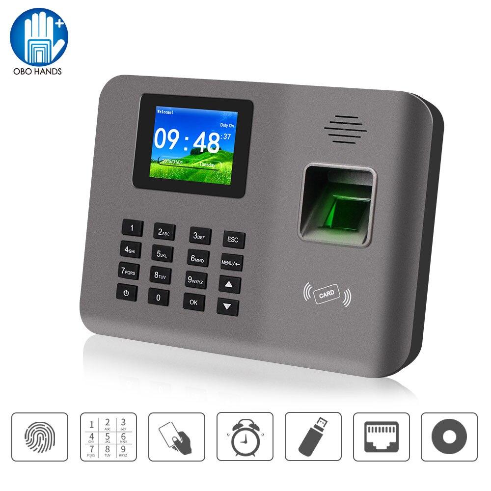 Realand 2,4 дюйма TCP/IP/USB биометрический отпечаток пальца посещаемость времени машина RFID карты посещаемость системы время часы устройство программное обеспечение
