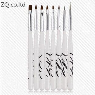 Щетка для ногтей, 8 шт., сделай сам, УФ-Гель-лак, для рисования, магнитная ручка в горошек, набор кистей для дизайна ногтей, нейлоновая деревянн...
