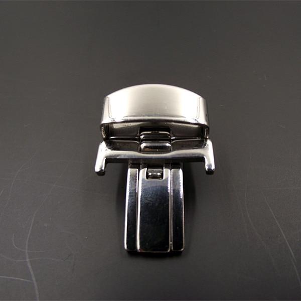 Galvanização de Aço Buckle para Pulseira de Relógio de Prata Atacado Lote 16 mm 18 22 Inoxidável Assista Cor-0120 20 Pçs –