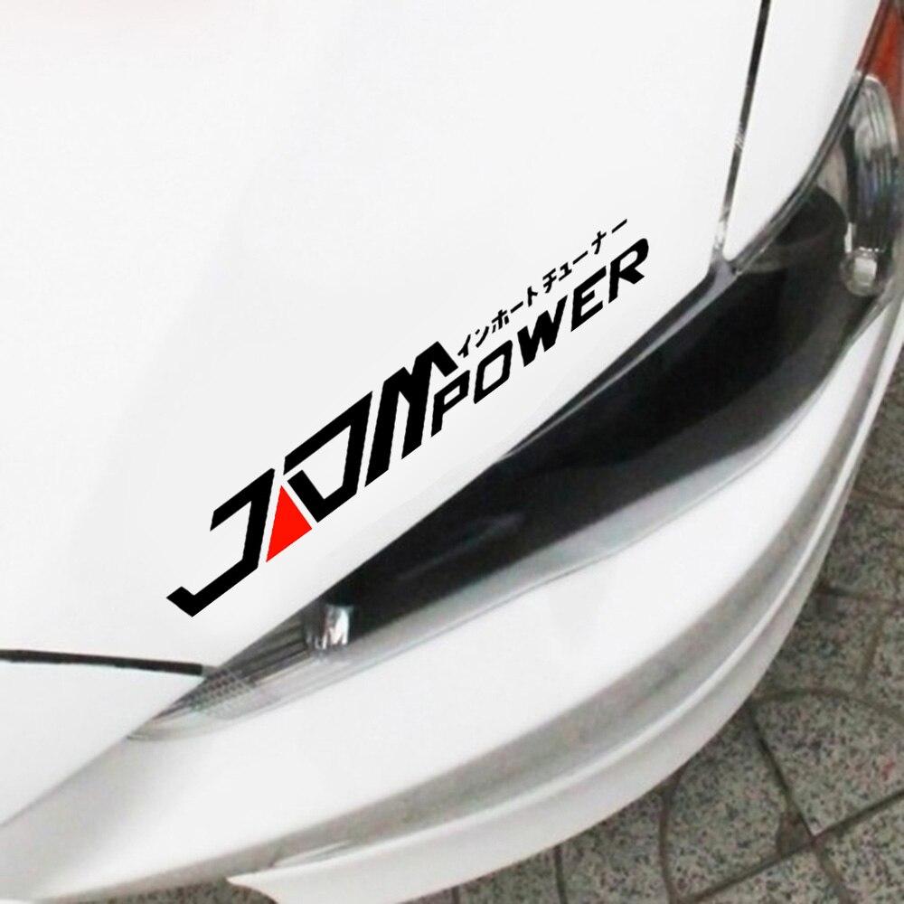 JDM Автомобильная наклейка светоотражающая Водонепроницаемая Виниловая наклейка для BMW Skoda Audi Peugeot Volkswagen Ford Buick Honda Toyota Kia