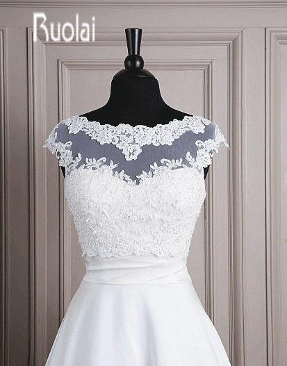 Fast Shipping Cap Sleeve Lace Applique Wedding Jacket Wedding Wrap Bridal Wrap(7004)