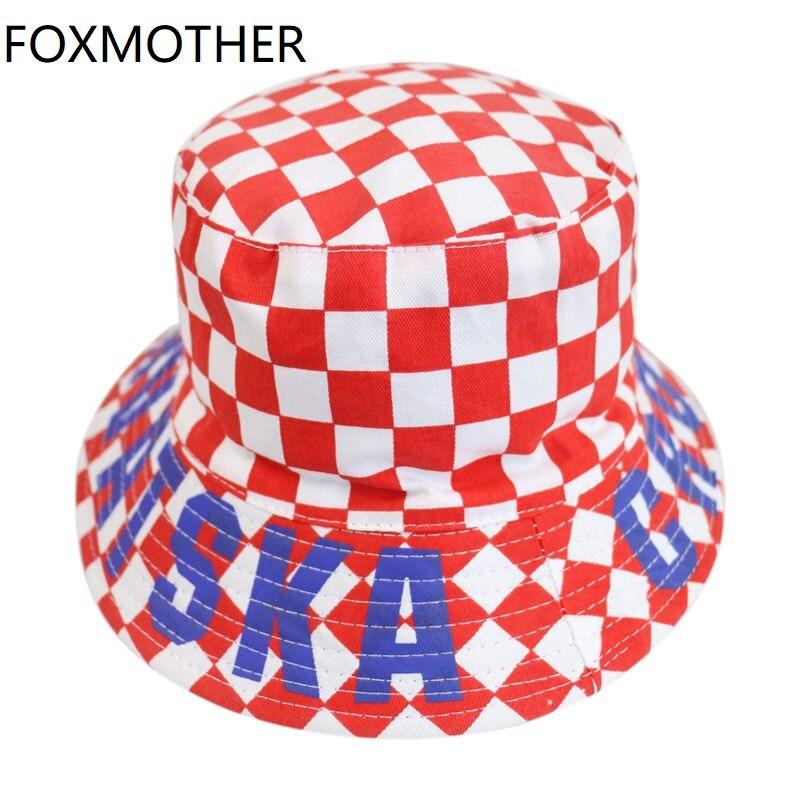 FOXMOTHER новые красные и белые клетчатые шапки для рыбака, шапки для рыбака, женские мужские