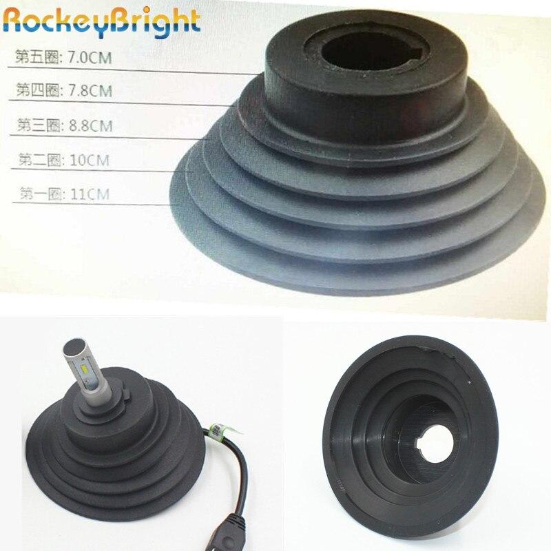 Автомобильные фары Rockeybright, 1 шт., H4 H7 H8 H11 9005 9006 HID, резиновые водонепроницаемые пылезащищенные крышки для фар