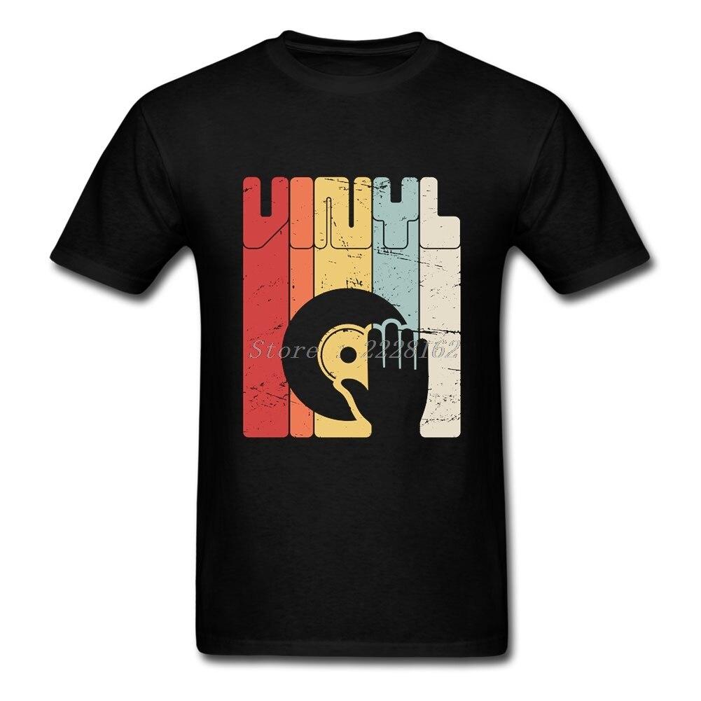 Camiseta de manga corta de rapero de vinilo para hombre