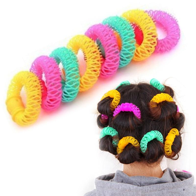 Hairdress Magic Hair Curler Spiral Curls Roller Donuts Curl Hair Styling Tool Hair Accessories DIY 8