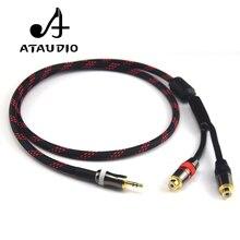 Câble Audio ATAUDIO Hifi 3.5mm mâle à 2RCA femelle 4N OFC 3.5 à câble Audio RCA