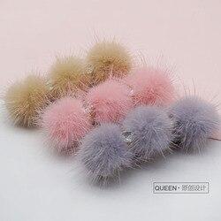 O novo super bola Cão hairpin Coréia Do Sul importou manual original em rabo de cavalo grampo de cabelo pet hairpin 20 pcs