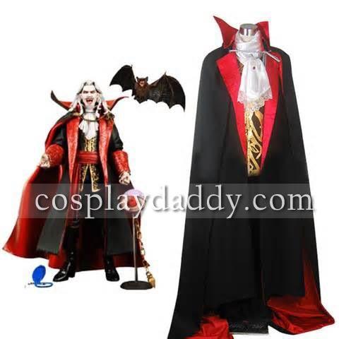 Disfraz Cosplay de vampiro Drácula Castlevania, vestido de Halloween