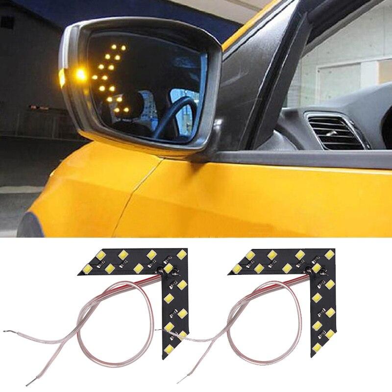 Panel de flechas LED 2x14 SMD, luz de señal de giro para Opel Astra H G Insignia Corsa D C Zafira B Vectra C Vivaro Mokka Meriva Opc