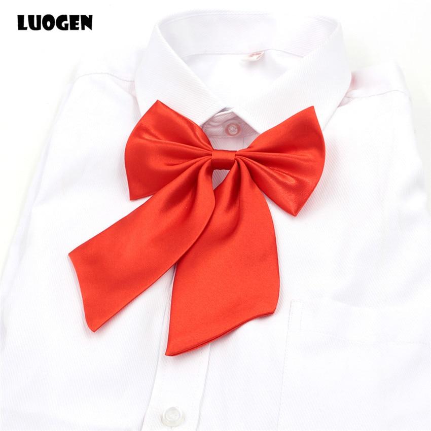1 предмет, Классическая японская школьная форма для девочек JK, галстук-бабочка, милый чистый цвет, галстук для косплея В Стиле Лолита, 9 цвето...