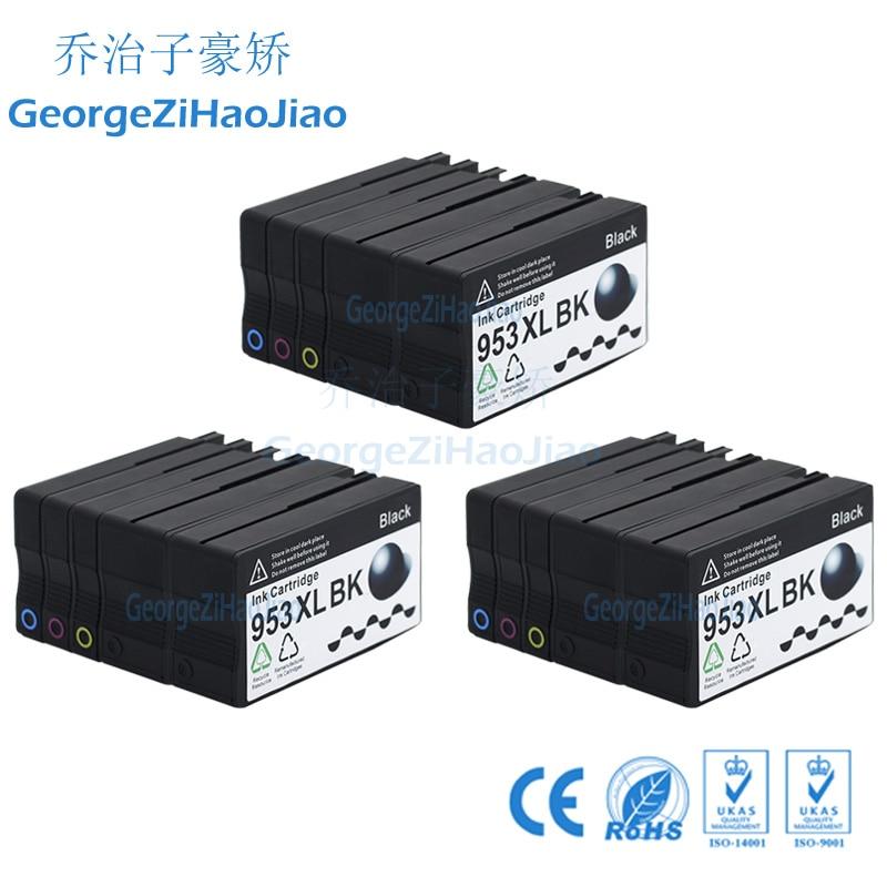 Cartucho de tinta Compatible 953XL de 15 Uds para impresora HP 953XL HP953 para HP OfficeJet Pro 8210 8218 8719 P55250dw