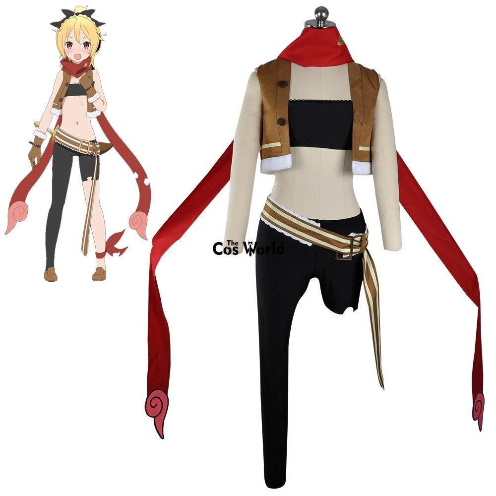 Re Zero Kara Hajimeru Isekai Seikatsu fieltro Feruto chaleco abrigo tubo Tops pantalones Leggings uniforme traje Anime Cosplay disfraces