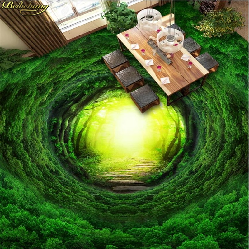 Beibehang bosque de fantasía mágico camino vinilo pared del dormitorio rollo de papel foto suelo impermeable papel pintado para paredes