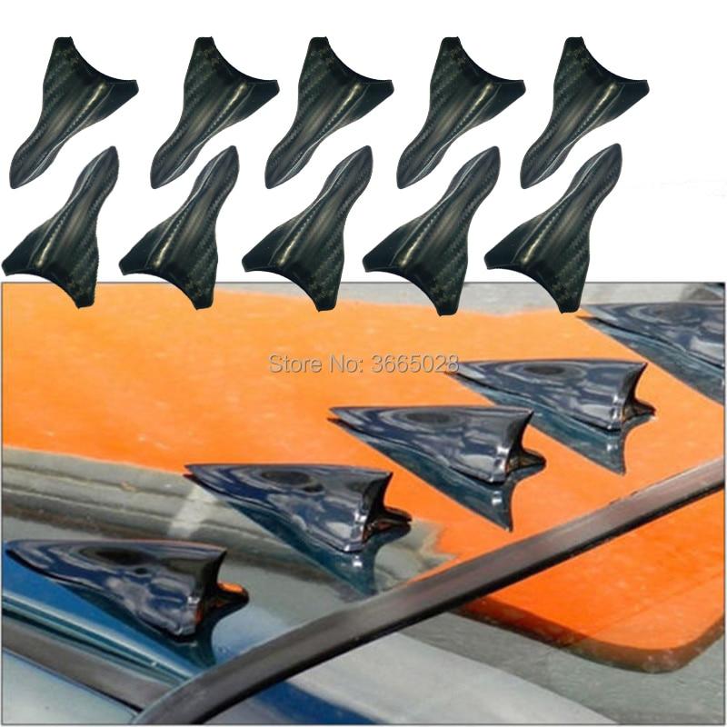 Racing Air Vortex Generator Diffusor Shark Fin 10 teile/satz Kit Für Spoiler Dach Flügel carbon look shark spoiler