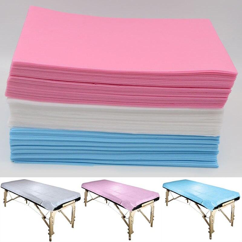 Juego de 10 unidades de sábana de SPA no tejida desechable, impermeable para sábana salón de belleza, cubierta para mesa de masaje de 2018x75cm, 175