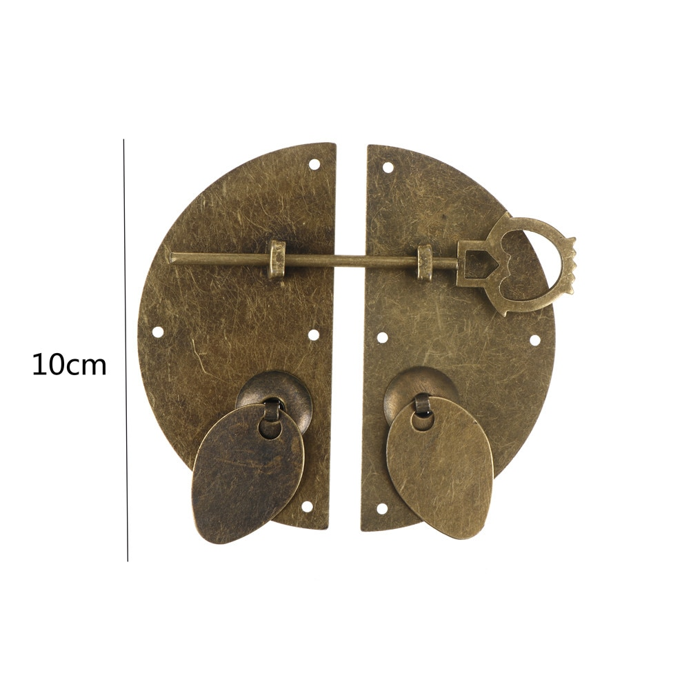 """Estilo chinês mobiliário ferragem porta de ferro batendo knocker puxar vintage trava para armário gaveta 100mm/3.94"""""""