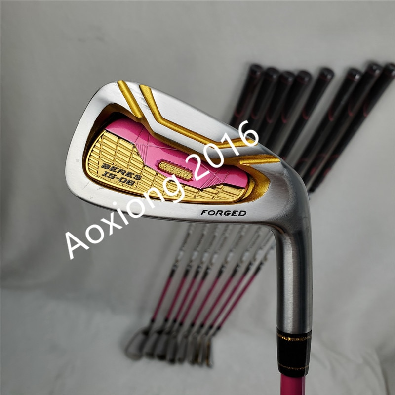 New Women Golf clubs IS-06 golf irons 5-11AW.SW Irons clubs with Graphite Golf shaft L flex irons clubs set Free shipping