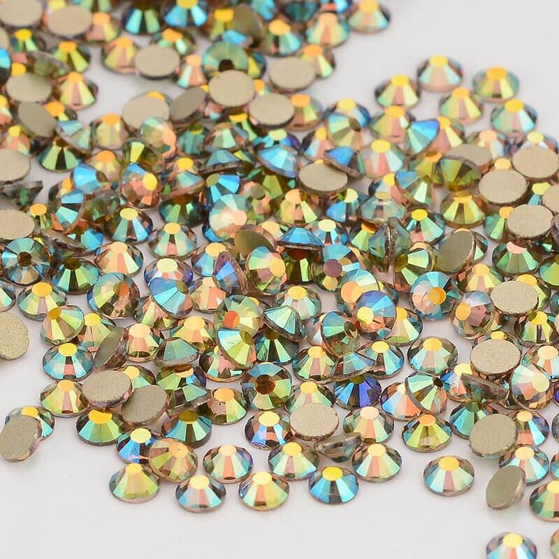 Geist Licht Effekte FlatBack Glas Strass Nicht-HotFix für Nagel Kunst Dekorationen (Gloden)